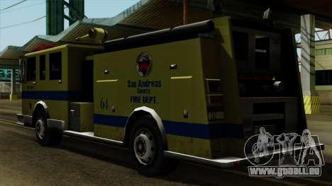 SAFD SAX Airport Engine pour GTA San Andreas laissé vue