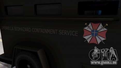 GTA 5 Enforcer Raccoon City Police Type 1 pour GTA San Andreas vue de droite