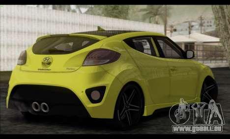 Hyundai Veloster 2012 pour GTA San Andreas laissé vue