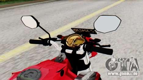 Yamaha Vixion Advance pour GTA San Andreas vue de droite