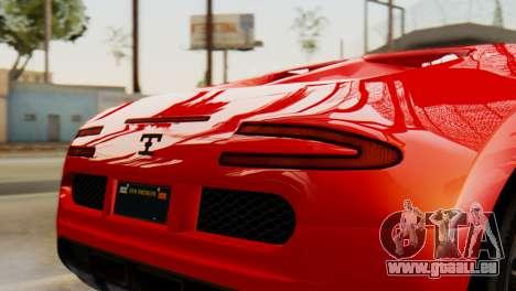 GTA 5 Adder Secondary Color Tire Dirt für GTA San Andreas rechten Ansicht