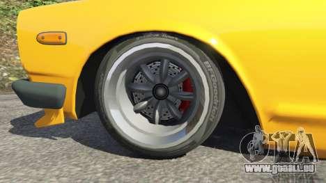 GTA 5 Nissan Skyline 2000 GT-R 1970 v0.3 [Beta] hinten rechts