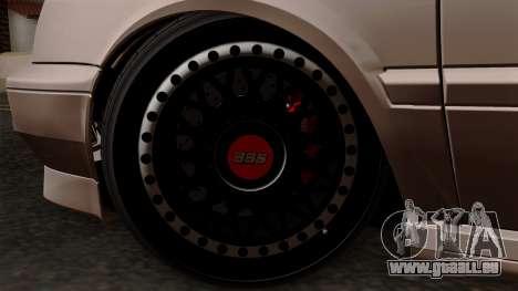 Volkswagen Golf 3 Shine pour GTA San Andreas sur la vue arrière gauche