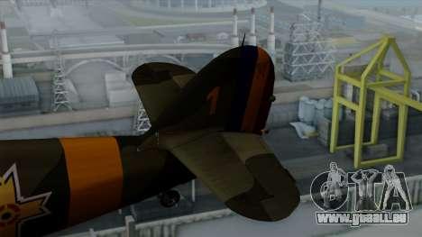 Hawker Hurricane Mk1 - Romania Nr. 1 pour GTA San Andreas sur la vue arrière gauche