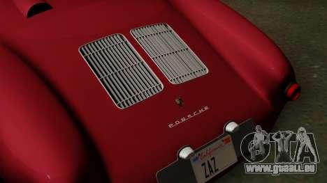 Porsche 550A Spyder 1956 für GTA San Andreas Rückansicht
