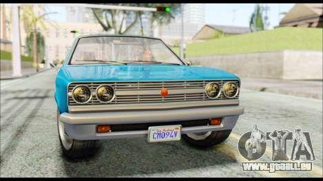 GTA 5 Cheval Picador IVF pour GTA San Andreas vue de droite