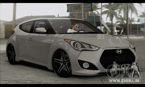 Hyundai Veloster 2012 pour GTA San Andreas vue de côté