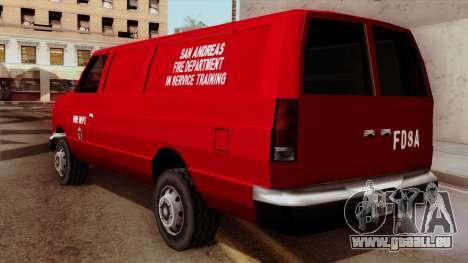 SAFD In Service Training Van für GTA San Andreas linke Ansicht