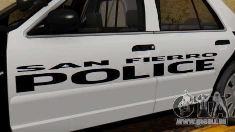 Police SF 2013 pour GTA San Andreas vue de droite