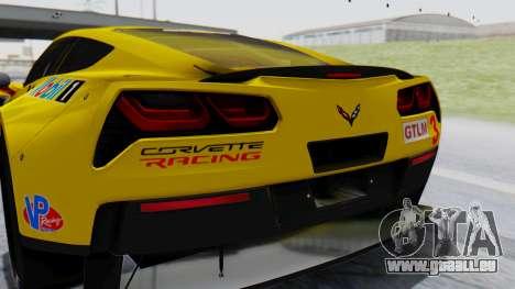 Chevrolet Corvette C7R GTE 2014 PJ1 pour GTA San Andreas vue arrière