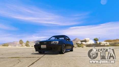 GTA 5 Der HKS-Aufkleber auf. hinten links Seitenansicht