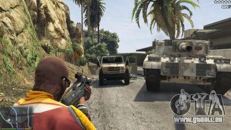 GTA 5 L'armée au lieu de la police sur 5-étoiles v1.3.