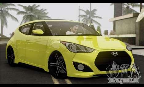 Hyundai Veloster 2012 pour GTA San Andreas sur la vue arrière gauche