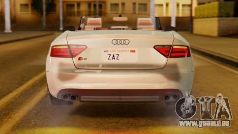 Audi S5 2010 Cabriolet für GTA San Andreas rechten Ansicht