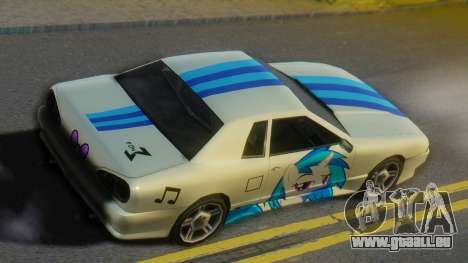 Vinyl Scratch Elegy pour GTA San Andreas sur la vue arrière gauche
