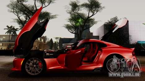 Dodge Viper SRT GTS 2013 IVF (MQ PJ) LQ Dirt pour GTA San Andreas vue de dessus