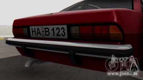 Opel Manta B1 für GTA San Andreas Rückansicht