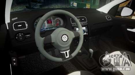 Volkswagen Polo pour GTA 4 est une vue de l'intérieur