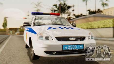 Lada 2170 Priora la police de la circulation de  pour GTA San Andreas