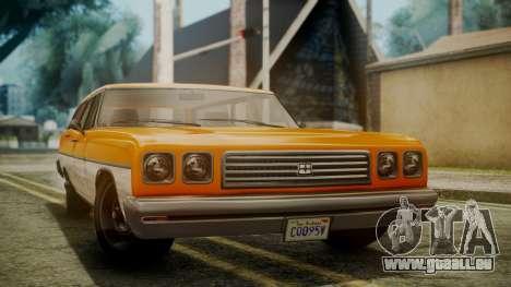 GTA 5 Dundreary Regina für GTA San Andreas rechten Ansicht