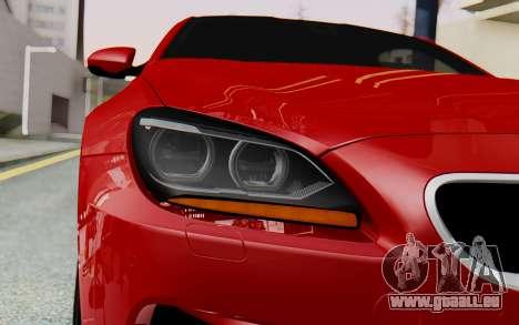 BMW M6 2013 v1.0 pour GTA San Andreas vue intérieure