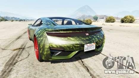 GTA 5 Dinka Jester (Racecar) Hulk hinten links Seitenansicht