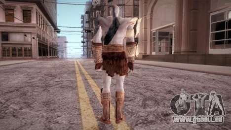 God Of War 3 Kratos Blue für GTA San Andreas dritten Screenshot