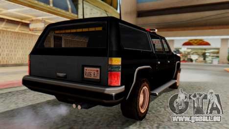FBI Rancher with Lightbars pour GTA San Andreas laissé vue