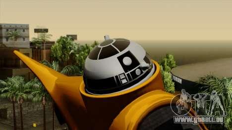 Star Wars N-1 Naboo Starfighter pour GTA San Andreas vue de droite