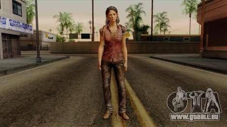 Tess from The Last of Us pour GTA San Andreas deuxième écran