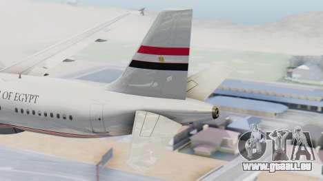 Airbus A320-200 Egyptian Air Force One für GTA San Andreas zurück linke Ansicht