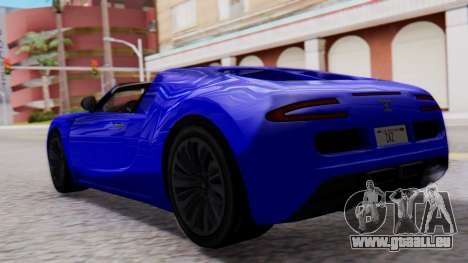 GTA 5 Truffade Adder Convertible pour GTA San Andreas laissé vue