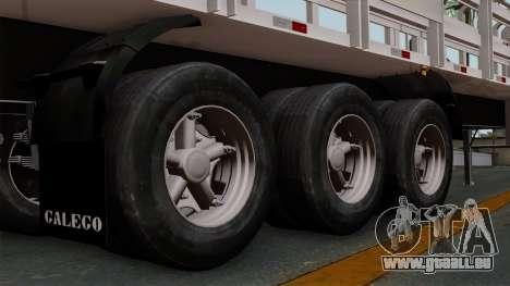 Trailer Rejas Gas pour GTA San Andreas sur la vue arrière gauche