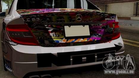 Mercedes-Benz C63 AMG Momoka and Nonoka Itasha pour GTA San Andreas vue arrière