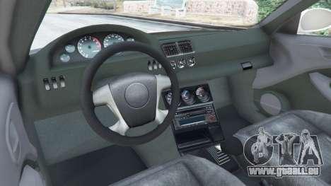 GTA 5 BMW M3 GTR E46 Most Wanted arrière droit vue de côté