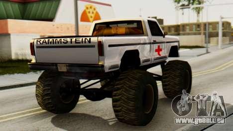 Nouvelle peinture originale pour Un Monstre pour GTA San Andreas laissé vue