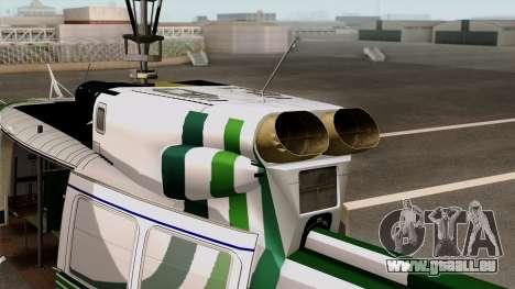 Bell UH-1N NAJA für GTA San Andreas zurück linke Ansicht