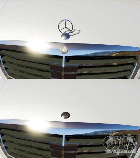 GTA 5 Mercedes-Benz S500 W221 v0.3 [Alpha] vue d'en haut