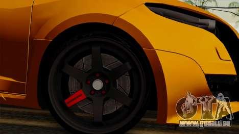 Renault Megane Sport HKNgarage pour GTA San Andreas sur la vue arrière gauche