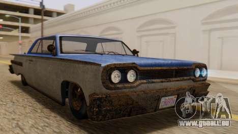 GTA 5 Declasse Voodoo Worn IVF pour GTA San Andreas