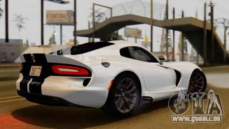 Dodge Viper SRT GTS 2013 IVF (HQ PJ) LQ Dirt für GTA San Andreas zurück linke Ansicht