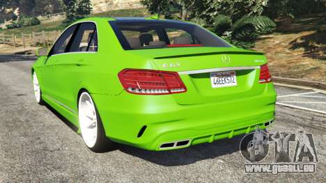 GTA 5 Mercedes-Benz E63 (W212) AMG v1.1 arrière vue latérale gauche