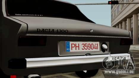 Dacia 1300 pour GTA San Andreas vue arrière