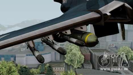 Grumman F9F-5 Phanter für GTA San Andreas rechten Ansicht