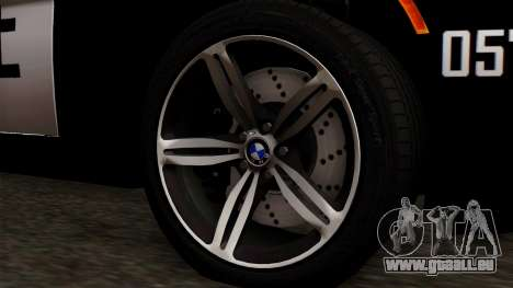 BMW M6 E63 Police Edition für GTA San Andreas zurück linke Ansicht
