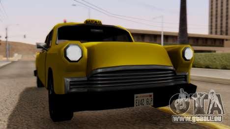 Cabbie New Edition für GTA San Andreas zurück linke Ansicht