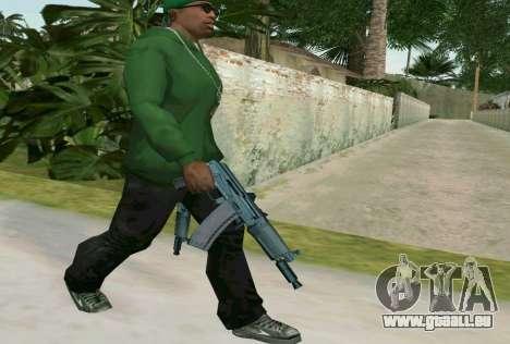 L'AKS-74U pour GTA San Andreas deuxième écran