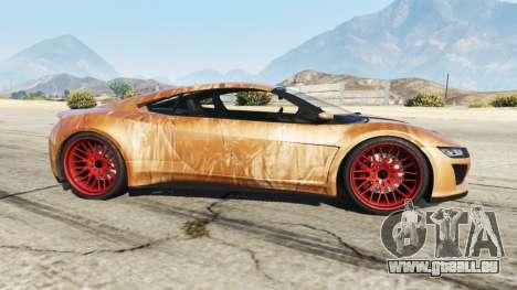 GTA 5 Dinka Jester (Racecar) Chocolate linke Seitenansicht