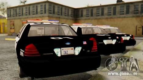 Ford Crown Victoria 2009 LAPD pour GTA San Andreas laissé vue