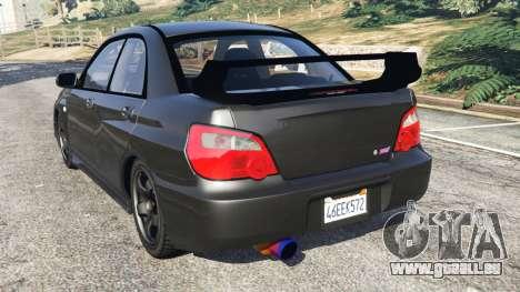 Subaru Impreza WRX STI 2005 für GTA 5